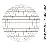 globe with grid. sphere pattern ...   Shutterstock .eps vector #533640865