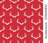 christmas antlers silhouette... | Shutterstock . vector #533640892