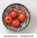 A Turkish Ceramic Bowl With Re...