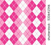 argyle pattern with dashed... | Shutterstock .eps vector #533641546