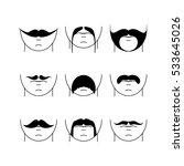 big set of vector hipster...   Shutterstock .eps vector #533645026