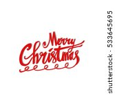 merry christmas card | Shutterstock .eps vector #533645695