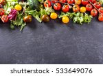 fresh salad with vegetables for ... | Shutterstock . vector #533649076