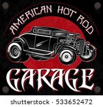 american hot rod garage.... | Shutterstock .eps vector #533652472