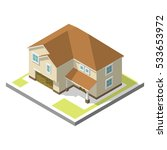 isometric image of a private... | Shutterstock .eps vector #533653972