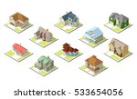 isometric image of a private... | Shutterstock .eps vector #533654056