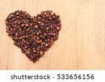 heart form made from spice... | Shutterstock . vector #533656156