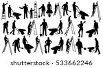 Working people silhouettes | Shutterstock vector #533662246