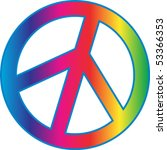peace sign | Shutterstock .eps vector #53366353