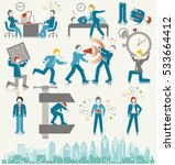 business people stress icon set | Shutterstock .eps vector #533664412