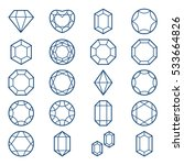 diamonds and gems icons set ... | Shutterstock .eps vector #533664826