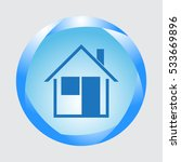home icon isolated on grey...
