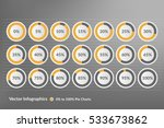 circle charts vector... | Shutterstock .eps vector #533673862