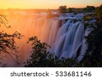 Victoria Falls At Sunset....