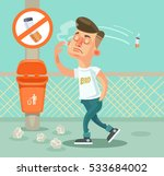 bad boy man character throw... | Shutterstock .eps vector #533684002