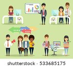 a set of concepts of office... | Shutterstock .eps vector #533685175