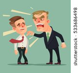 boss man character screams on... | Shutterstock .eps vector #533686498