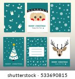 design christmas cards 2017... | Shutterstock .eps vector #533690815