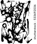 vector abstract black ink drips ... | Shutterstock .eps vector #533692036
