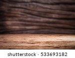grunge vintage wooden board... | Shutterstock . vector #533693182