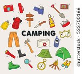 collection of doodle camping... | Shutterstock .eps vector #533700166