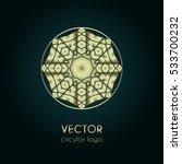 golden logo design template ... | Shutterstock .eps vector #533700232