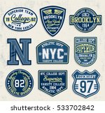 college new york  brooklyn ... | Shutterstock .eps vector #533702842