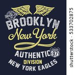 college new york  brooklyn... | Shutterstock .eps vector #533702875