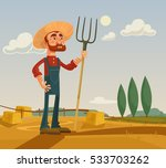 happy farmer man character and... | Shutterstock .eps vector #533703262