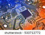 electronic circuit board close... | Shutterstock . vector #533712772