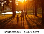 mom playing with her child... | Shutterstock . vector #533715295