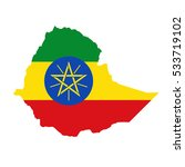 ethiopia map and flag in white... | Shutterstock .eps vector #533719102