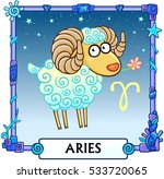 zodiac sign aries. fantastic... | Shutterstock .eps vector #533720065