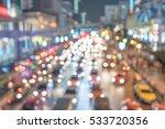 defocused lights car traffic...   Shutterstock . vector #533720356