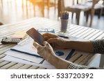 businessman talking on phone... | Shutterstock . vector #533720392