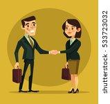 businesswoman and businessman... | Shutterstock .eps vector #533723032
