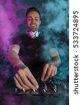 charismatic disc jockey at the... | Shutterstock . vector #533724895