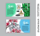two beautiful banners of spa... | Shutterstock .eps vector #533725936