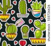 fashion pop art seamless... | Shutterstock .eps vector #533726626