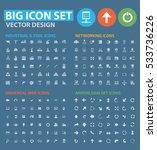 big icon set clean vector | Shutterstock .eps vector #533736226
