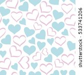 seamless pattern with hearts.... | Shutterstock .eps vector #533741206