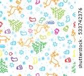 new year pattern | Shutterstock .eps vector #533742376