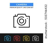 vector camera icon. premium... | Shutterstock .eps vector #533746432