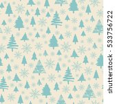 holiday pattern christmas... | Shutterstock .eps vector #533756722