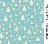 holiday pattern christmas... | Shutterstock .eps vector #533756752