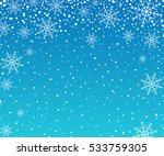 holiday backdrop snowflake... | Shutterstock .eps vector #533759305