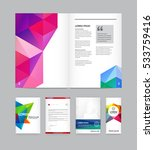 set of visual identity with... | Shutterstock .eps vector #533759416