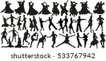 dance silhouettes | Shutterstock .eps vector #533767942