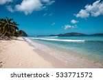 beautiful sandy beach on... | Shutterstock . vector #533771572