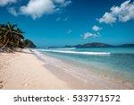 beautiful sandy beach on... | Shutterstock . vector #533771572